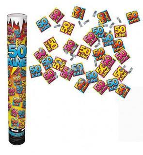 Canon confettis anniversaire 50 ans