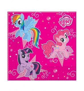 20 Serviettes en papier Rose Mon petit poney? 33 x 33 cm