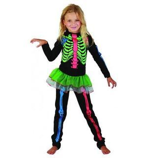 Déguisement squelette coloré fille