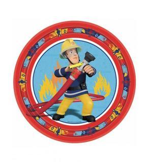 8 Assiettes 23 cm Sam le pompier?