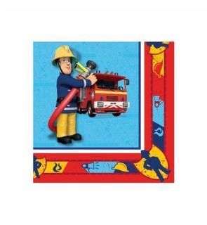 20 Serviettes en papier Sam le pompier? 33 x 33 cm