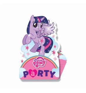 8 Cartes d'invitation Mon petit poney?