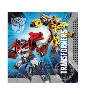 20 Serviettes en papier Transformers? 33 x 33 cm