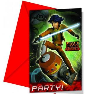 6 Cartes d'invitation Star Wars Rebels?