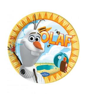 8 Assiettes carton Olaf? 23 cm