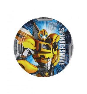 8 Petites assiettes Transformers? 18 cm