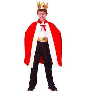 Cape et couronne de roi enfant