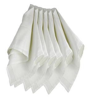 Lot de 6 langes couches hydro 70x70 cm blanc