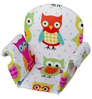 Coussin de chaise pvc avec rabat hibou