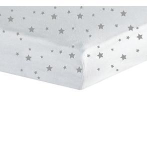 Drap housse 60x120cm étoiles