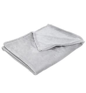 Couverture bébé 100x150cm gris clair
