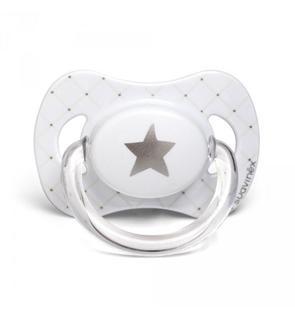 Sucette physiologique silicone 6-18 mois étoile blanc édition limitée